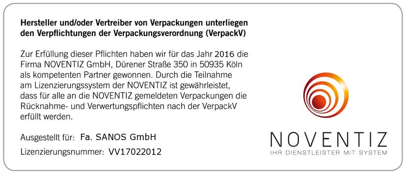 SANOS GmbH - Packaging